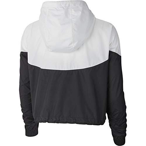 Nike Womens Heritage Windrunner Track Jacket Black/White AR2511-010 Size X-Small by Nike (Image #1)