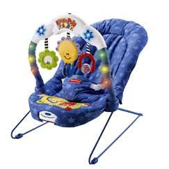 8570b44ac7df Amazon.com   Fisher Price 79636 Kick   Play Bouncer   Infant ...