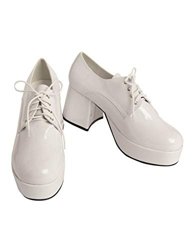Mens Pimp Platform White Shoes (10/11) -