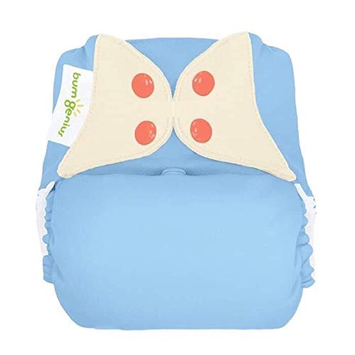 bumGenius Freetime All-in-One One-Size Snap Closure Cloth Diaper (Bluebell)