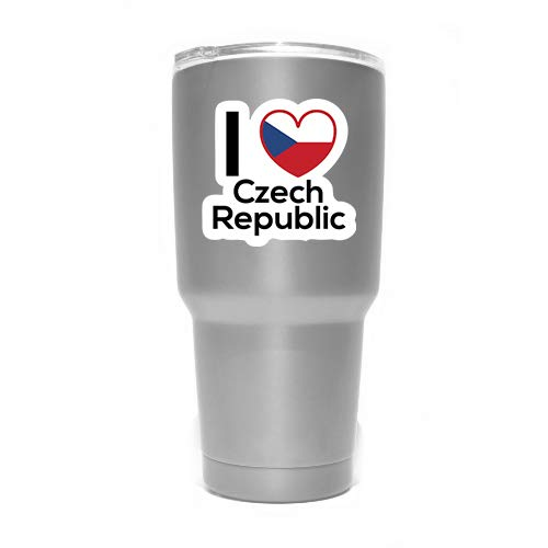 - Love Czech Republic Flag Decal Sticker Home Pride Travel Car Truck Van Bumper Window Laptop Cup Wall - Two 3 Inch Decals - MKS0176