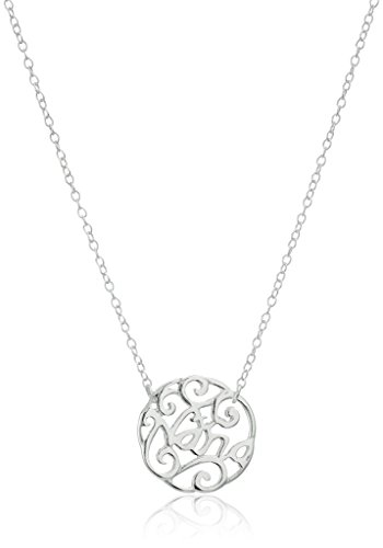 Sterling Silver Filigree Pendant Necklace