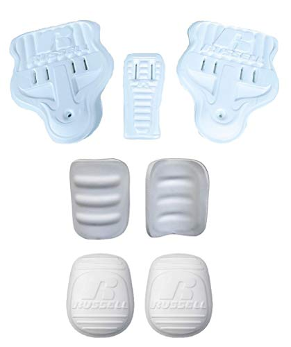 Martin/Russell Adult Football 7 Piece Slotted Pad Set - Knees Thighs Hips Tail
