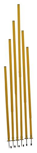 12 er Set Slalomstange Teleskop mit Tasche, Höhe 97 bis 175 cm, Ø 25 mm, gelb, Stahlspitze