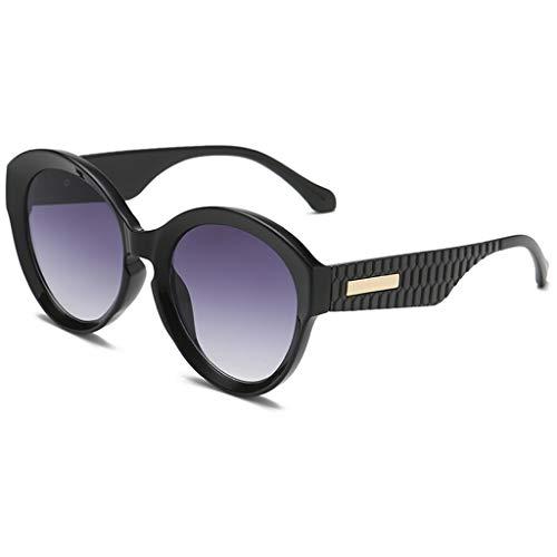 LODDD Womens Casual Round Large Frame Sunglasses Fashion Retro Style Trend ()