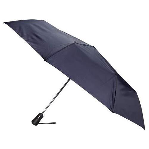 Totes Titan Compact Travel Umbrella, Automatic Open/Close, Navy