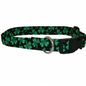 St Patrick's Day County Cork Shamrock Dog Collar Sizes: S to XL
