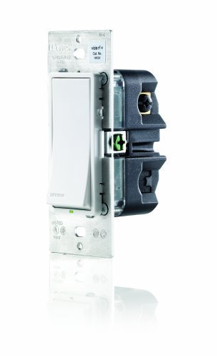 LevitonVRCS1-1LX Vizia RF + 1-Button Scene Controller/Virtual Switch Remote for Multi-Location Control, White/Ivory/Almond For Sale