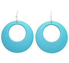 Drop Earrings 70/'s Disco Fever Fancy Dress Halloween Costume Accessory 3 COLORS