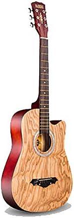 アコースティックギター 初心者ギター学生初心者ギターエントリピアノフォークアコースティックギター 初心者セット (色 : F, Size : 38 inches)