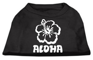 UPC 099994467302, Mirage Pet Products Aloha Flower Screen Print Shirt, Large, Black
