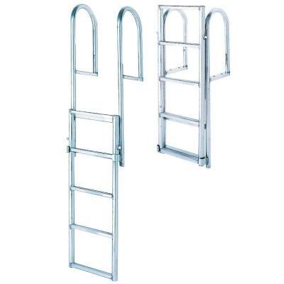 Boat Docks Aluminum (Tommy Docks 4- Step Standard Rung Lifting Aluminum Dock Ladder)