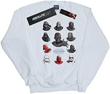 Star Wars Herren The Rise of Skywalker First Order Character Line Up Sweatshirt Weiß X-Large
