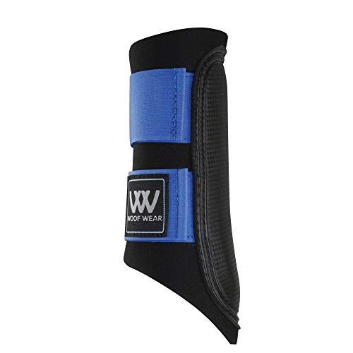 WOOF WEAR Club Brushing Boot X Large Black Electric Blue - Electric Footwear
