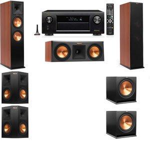 Klipsch RP-280F Tower Speakers CH-RP-250C-5.2-Denon AVR-X4100W