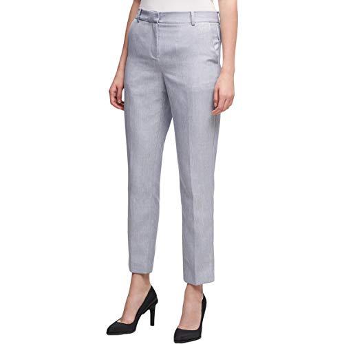 - DKNY Womens Skinny Crop Dress Pants Blue 14
