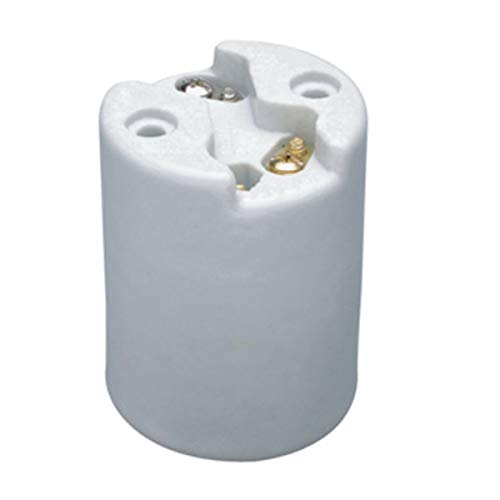 FINELED Mogul Base Porcelain Lampholder,One-Piece, Keyless, HID, Glazed Porcelain Mogul/Goliath Socket, Push-in ternimal E39 mogul lampholder,1500W, 4KV-Pulse Rated, White