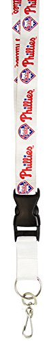 MLB Philadelphia Phillies Lanyard, White - Philadelphia Phillies White Baseball