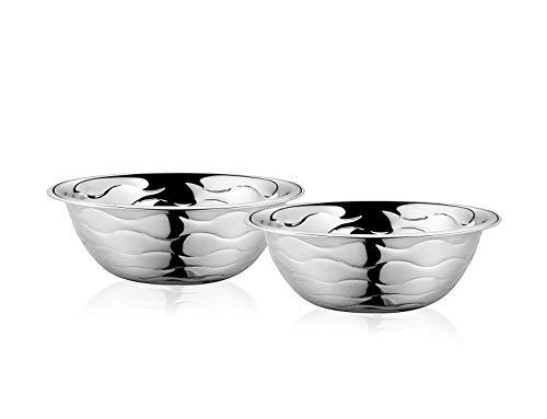 Classic Essentials Wave Serving Bowl Set of 2, 2200ml