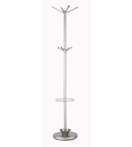 Adesso Quatro Metal Standing Coat Rack and Umbrella Stand