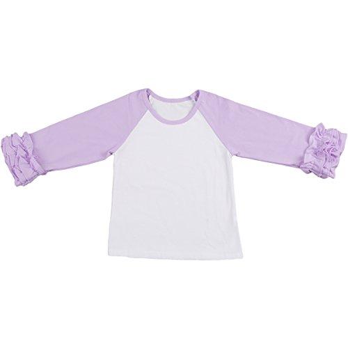 Icing Ruffled Top Toddler Girls Pink//White Ruffle Raglan Baby