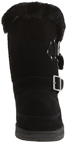 Black Boot Solid Mid Women's Bearpaw Suede Calf Madeline XvY0PXxnO