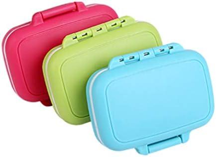 TOPBATHY 3Pcs Mini Estuche de Píldora Portátil 3 Compartimentos Píldora Medicina Caja Recordatorio Caramelo Joyería Organizador para Bolsillo de Viaje (Color Mezclado): Amazon.es: Salud y cuidado personal