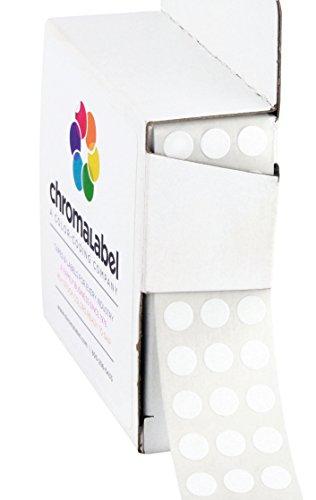 ChromaLabel 1/4 inch Color-Code Dot Labels | 1,000/Dispenser Box (White)