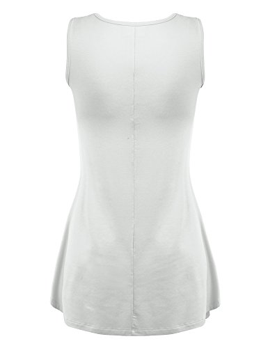 Made By Johnny WT827 Womens Sleeveless V Neck Dress Top XXL White by Made By Johnny (Image #2)