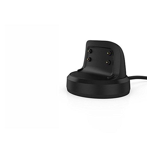 Ocamo Cargador inalámbrico portátil de carga rápida Pad soporte para Samsung Gear Fit 2