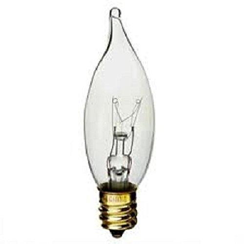 12 Volt Chandelier Light Bulb ((10pack) 7W LOW VOLTAGE 12V 7-WATT LANDSCAPE E12 BASE LIGHT BULB CLEAR)