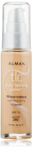 Almay Tlc Truly Lasting Color Makeup, Sand 260, 1-Ounce Bottle (Pack of 2) Almay Truly Lasting Makeup
