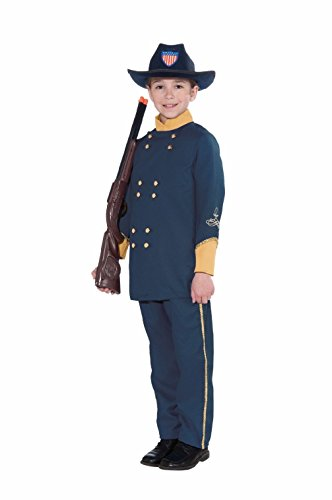 [Union Officer Child Costume Kids Boys Soldier Battle Play Theme Halloween Party] (Civil War Union Officer Costumes)