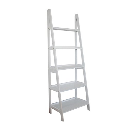 Metro Shop Mintra 5-tier A-frame White Ladder Shelf-White