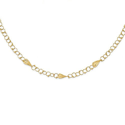 in 1.5in Extension Chain Necklace Pendant Charm Fancy Bead Station Fine Jewelry Gifts For Women For Her ()