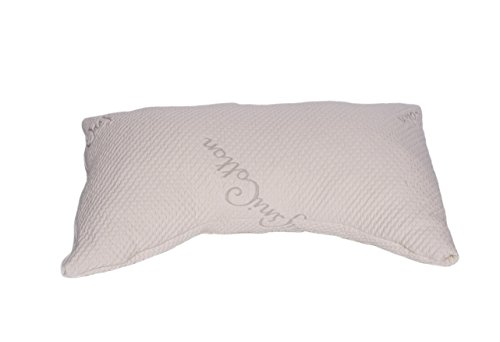 V&R Naturals Curve Queen Adjustable Pillow - Organic Cotton Cover - Mix Blend of Latex Noodles and Kapok Silk (60%,40%)