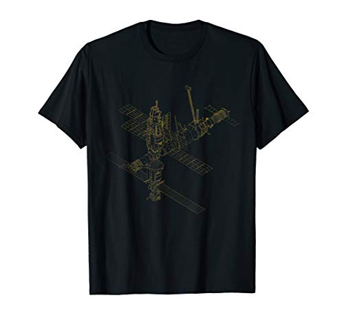 Satellite T shirt Russian Mir Space Station Cosmos -