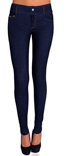 Danaest Damen Jegging Skinny ( Nr. 239-32 ), Grösse:XL/XXL;Farbe:Denim Dunkel Blau