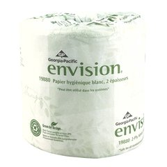 Case of 80 New envision White Standard Toilet Tissue sheet Rolls 4 X 4.05 Inch
