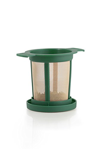 Brewing Basket M - Permanent Tea Filter, green (18 retail units per Case) by Finum