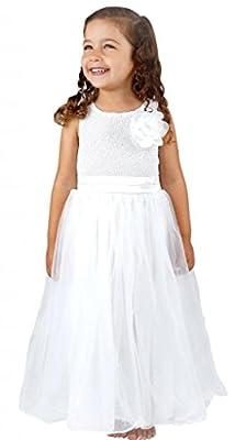 Bow Dream Flower Girl's Dress Sequins Tulle