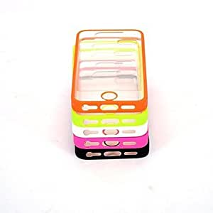 ZL Transparent Design Durable Hard Case for iPhone 5/5S (Assorted Colors) , Orange
