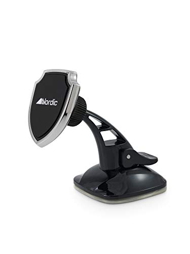 Magnetic Universal Car Mount: Dashboard & Windshield Car Phone Mount Holder for iPhone Xs Max R 8 Plus 7 6s SE Samsung Galaxy S9 S8 Edge S7 S6 Note 9 & Other Smartphones by Nordic