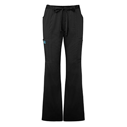 Adar Indulgenc Jr. Fit Low Rise Boot Cut Patch Pocket Pants - 4104 - Black - M (Halloween Characters For Women)