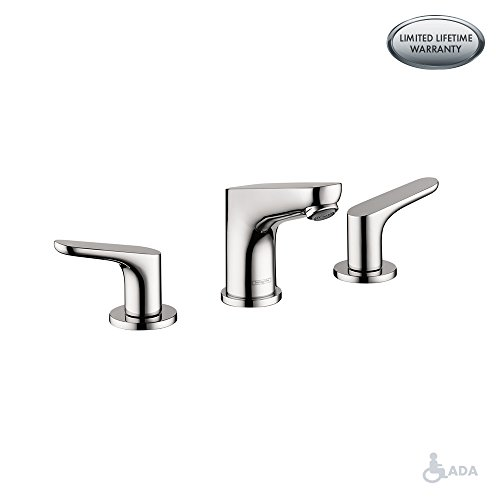 hansgrohe Focus  Modern 2-Handle  5-inch Tall Bathroom Sink Faucet in Chrome, 04369000