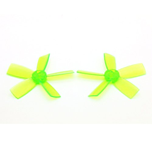 8 Pairs DYS 1735 Propellers 1.7 Inch 5-Blade PC Prop for FPV RC ELF Micro Drone (Green)