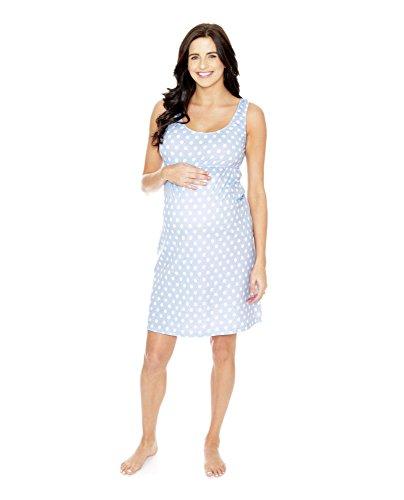 Baby Be Mine Maternity Nursing Nightgown - Sleeveless (X Large pre pregnancy 16-18, Nicole)