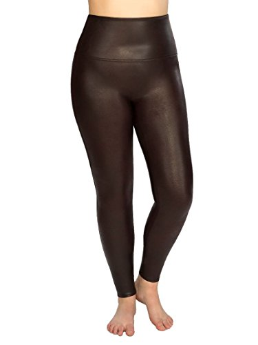 SPANX Plus Size Ready-To-Wow Faux Leather Leggings, 1X, Wine by SPANX