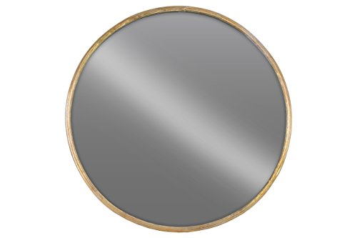Urban Trends Metal Round Wall Mirror LG Tarnished Finish Gold - Item Type: figurine Item material: metal Item finish: tarnished finish - bathroom-mirrors, bathroom-accessories, bathroom - 31r4EEO xqL -