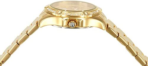 Invicta Women's Angel 34.5mm Gold Tone Stainless Steel, Crystal Accented Quartz Watch, Gold (Model: 21384) WeeklyReviewer